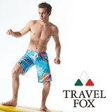 【TRAVELFOX 旅狐】悠遊南灣七分寬口泳褲C13918