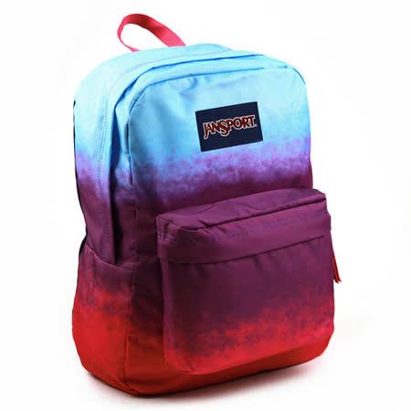 JanSport校園背包(SUPER BREAK)-漸層紫