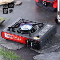【妙管家】戶外野營美味料理休閒瓦斯爐(紅)#04123