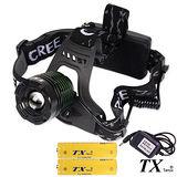 【特林TX】美國CREE T6 LED多段式旋轉變焦頭燈(HDT6-100-Z)