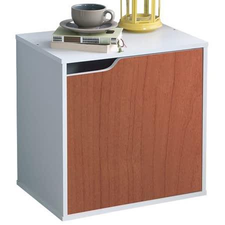 赫斯提亞多色單格單門組合收納櫃-櫻桃色