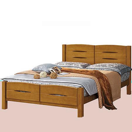日式量販 北歐設計家居實木5尺雙人床架