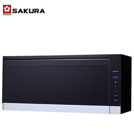 SAKURA櫻花 雙殺菌烘碗機90公分黑色 Q-7583XL 送安裝