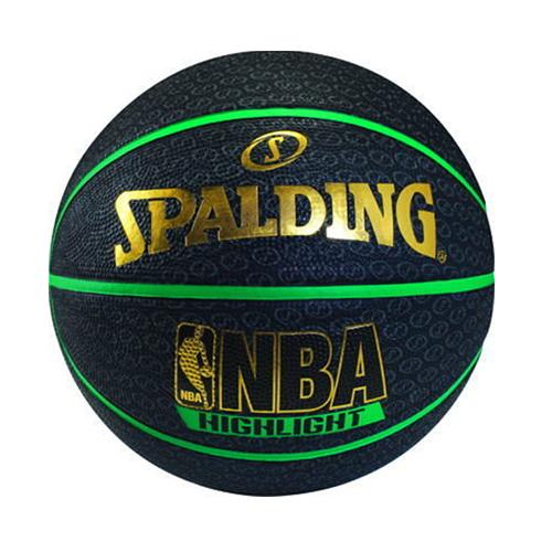 斯伯丁黑色銀標NBA 7號籃球