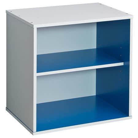 赫斯提亞悠活多色單格雙層櫃-藍色
