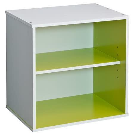 赫斯提亞悠活多色單格雙層櫃-綠色