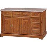 日式量販 經典刻紋5尺大理石面正樟木餐櫃下座