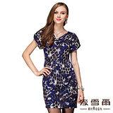 【麥雪爾】時尚簡約豹紋造型連身洋裝