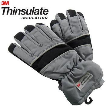 3M Thinsulate 保暖防水反光手套(適用女性/青少年) 灰/黑