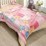 戀香 超柔舒小童毯 小毛毯-粉紅熊