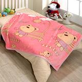 戀香 超柔舒小童毯 小毛毯-大桃熊