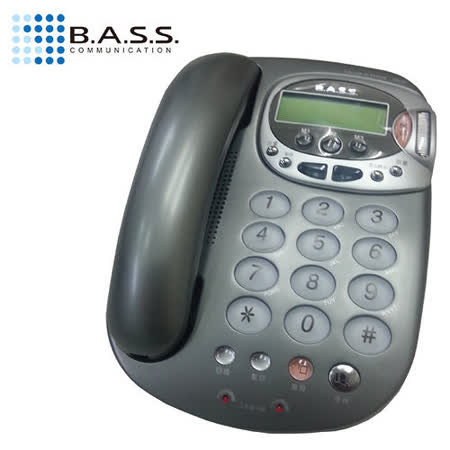 【BASS倍適】來電顯示有線電話(BS-101)銀灰