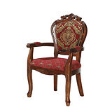 Bernice - 加納柚木色布面扶手椅(全實木)