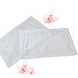 【花季】典雅風情-純白五星飯店級浴室踏墊x2件組(73x52cm/375G)