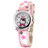 Hello Kitty 蕾絲花園俏麗腕錶-粉紅