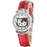 Hello Kitty 魔鏡奇緣俏麗腕錶-紅