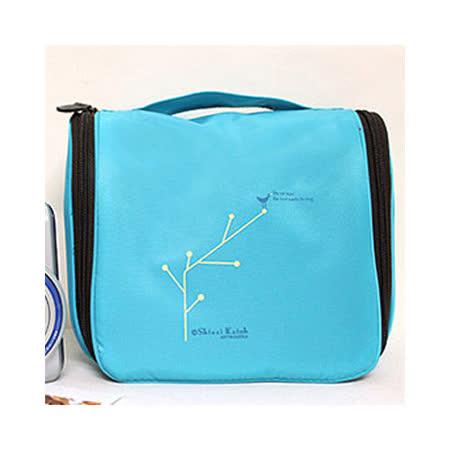 【iSFun】旅行專用*防水掛勾盥洗包/藍