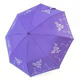 【TV雨傘王】自動傘系_長頸鹿蛋捲傘(紫色)