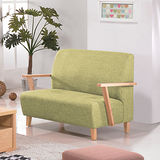 【幸福屋】維雅納本色亞麻布雙人座沙發-綠