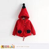 魔法Baby~女童高帽子厚毛絨保暖外套~k38095