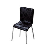 Bernice - 法蘭基黑花皮餐椅