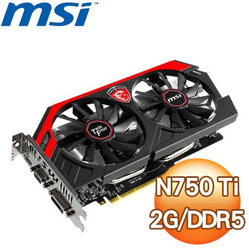 MSI 微星 N750 Ti GAMING 2GD5OC PCIE 顯示卡~ 三年 ~