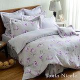 東妮寢飾蕾妮芙精梳棉印花-兩用被床包組(特大)
