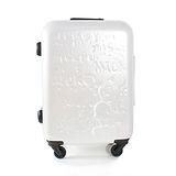 【CROWN皇冠】19.5吋 Disney夢想米奇高級旅行箱 珍珠白 C-F5036