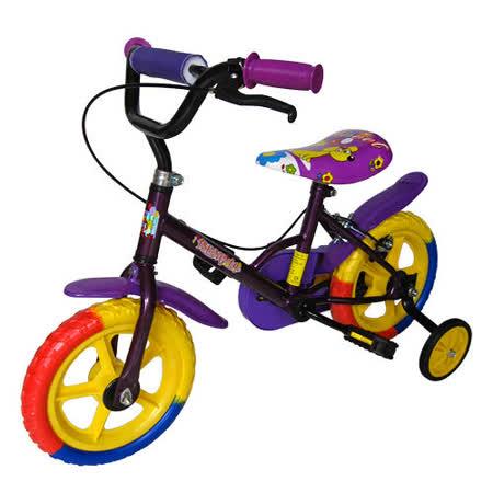 寶貝樂 12吋兒童自行車-紫色