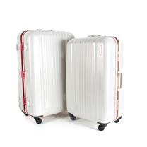 MOM JAPAN 日本品牌 25吋 亮彩系列 鋁框鏡面海關鎖旅行箱 雙色 MF6008-25-RD