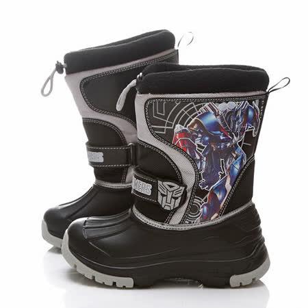 童鞋城堡-變形金剛中童輕量防潑水酷炫高筒靴TF7288-黑