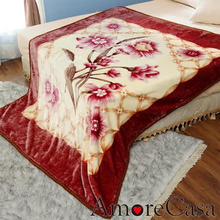 【AmoreCasa】古典花園 拉舍爾細絨保暖毛毯