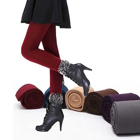 【Olivia】天鵝絨保暖刷毛內搭褲/保暖內搭褲/連褲款 7色