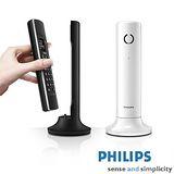 【飛利浦PHILIPS】Linea 設計無線電話 M3301 (黑/白)