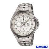 CASIO EDIFICE 三眼都會簡約時尚指針錶(白) EF-326D-7A