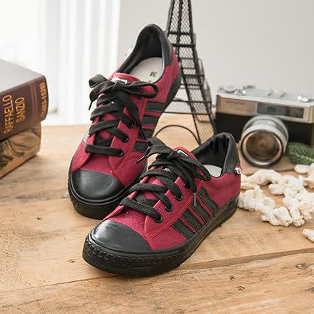 中國強 MIT 經典休閒帆布鞋CH89(紅黑)女鞋