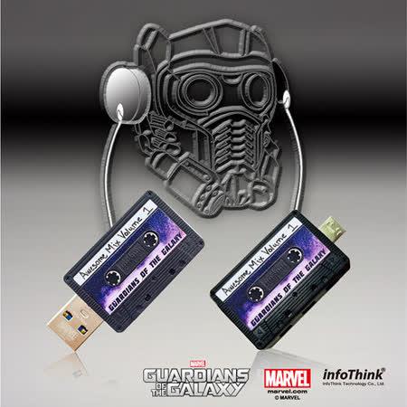 InfoThink 迷你錄音帶OTG雙頭隨身碟16GB