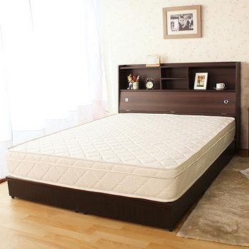 契斯特 全包覆式三線矽膠獨立筒床墊 白色雙人(買就送 記憶枕*2)