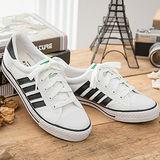 中國強 MIT 百搭休閒帆布鞋CH81(白黑)男鞋