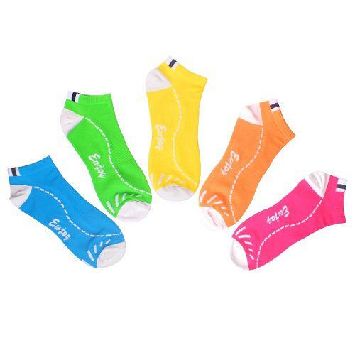 抑菌防臭 螢光色系 休閒短襪 2雙入多色