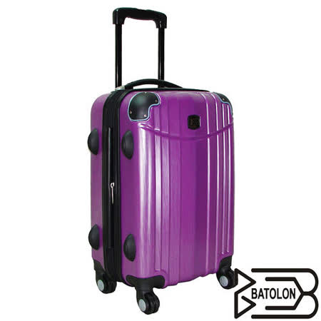 【BATOLON寶龍】24吋-時尚髮絲紋TSA鎖ABS輕硬殼旅行拉桿箱