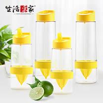 【生活采家】KOK系列Tritan速鮮吸嘴檸檬杯(2大+2小)#99380