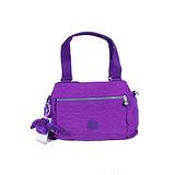 【Kipling】BASIC系列 三夾層手提斜背保齡球包 奢華紫K-374-5257-643