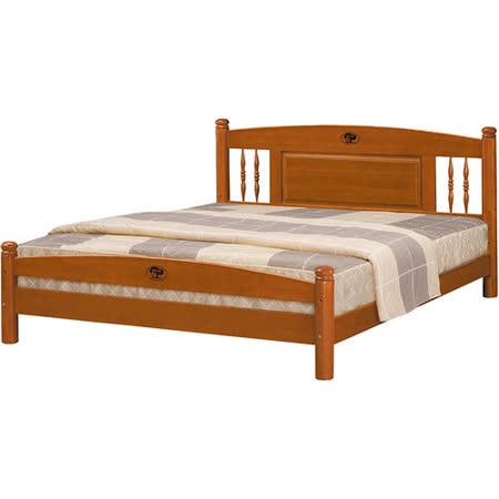 日式量販 復古鄉村風5尺實木雙人床架