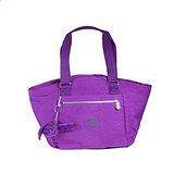 【Kipling】比利時品牌 BASIC系列 限量花色款 弧形貝殼款肩背包 奢華紫K-374-3583-643