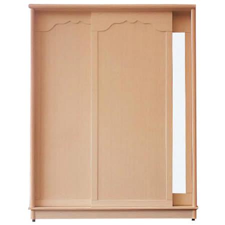 日式量販 嚴選白橡內層鏡拉門4X7衣櫃