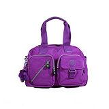 【Kipling】BASIC系列 肩背2用雙口袋機車包 奢華紫K-374-3636-643