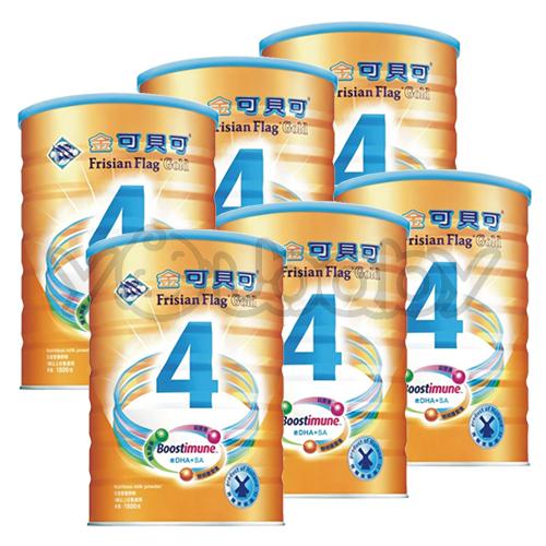 金可貝可兒童強化奶粉1800g X6罐