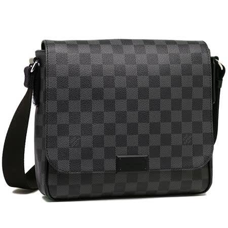 Louis Vuitton LV N41260 District PM 黑棋盤格紋翻蓋斜背包_預購