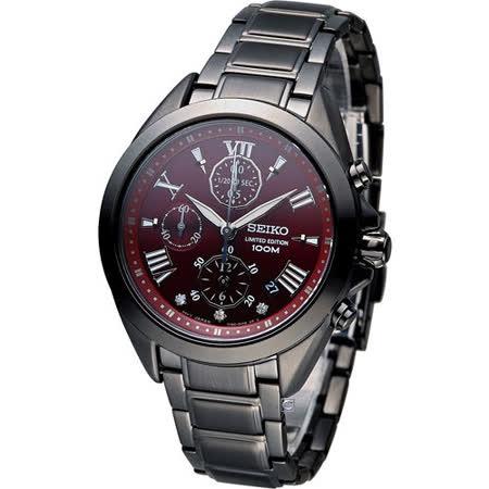 精工 SEIKO Criteria 魔法(時)計時時尚腕錶 7T92-0SA0SD SNDW31P1